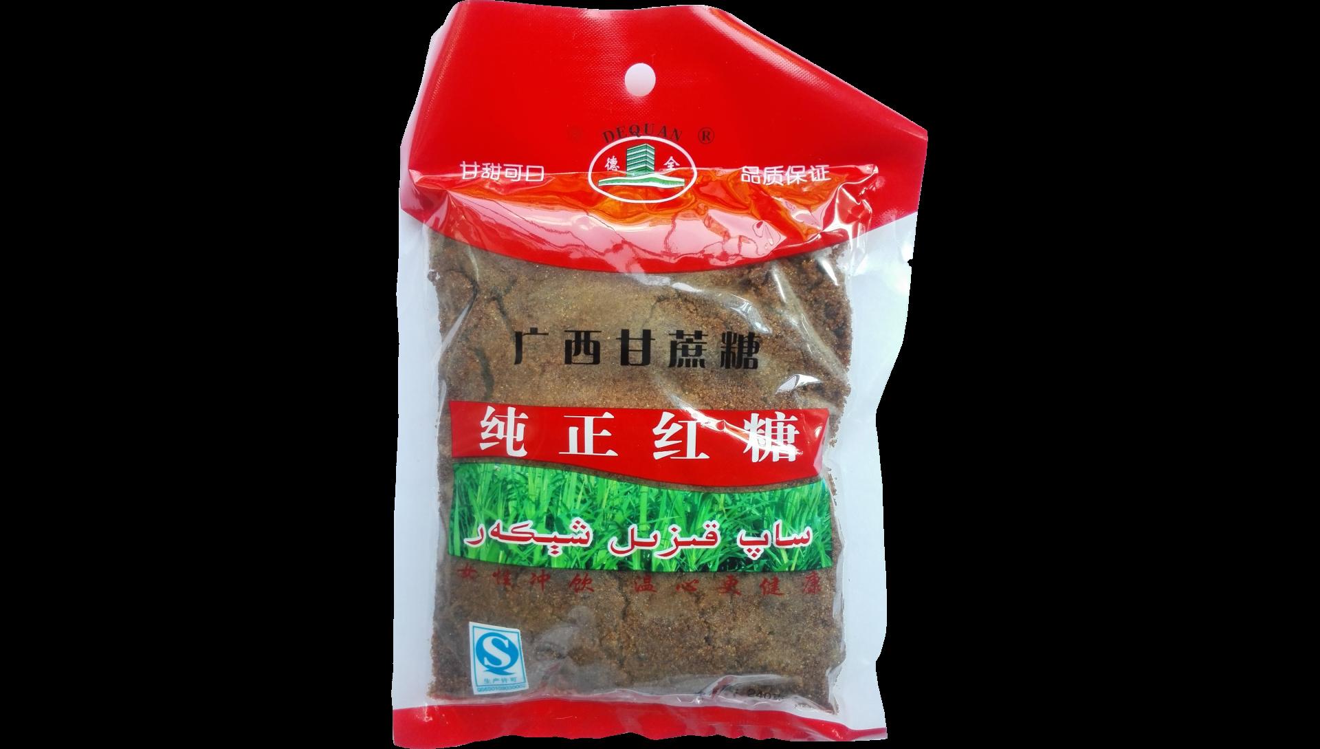 «Чистый коричневый тростниковый сахар», цена – 2$, упаковка 240гр.