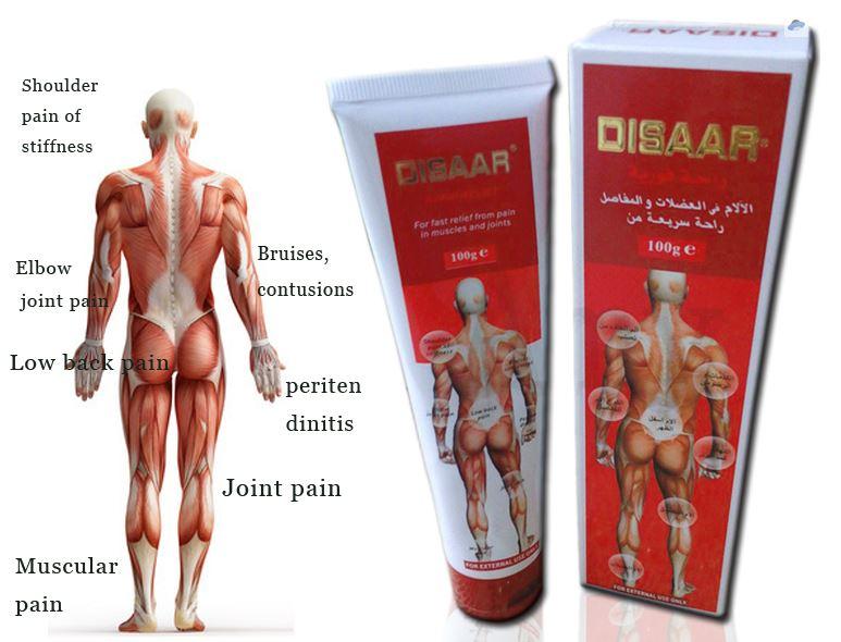 Массажный крем «Disaar – rapid relief» для быстрого облегчения и снятия боли в мышцах и суставах, 100гр