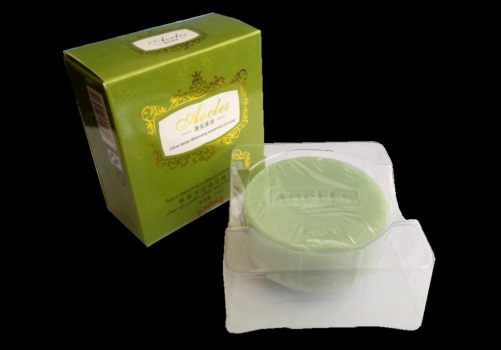 Мыло «Aocles» для глубокой очистки кожи, с эфирными маслами оливы